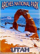 Arches National Park Utah United States America Travel Advertisement Art Poster