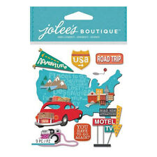 Road Trip USA Motel Camera Car Luggage Rack Motel Sign GPS Jolee's 3D Stickers
