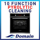 NEW 60cm PYROLYTIC CLEANING 10 FUNCTION ELECTRIC FAN FORCED WALL OVEN