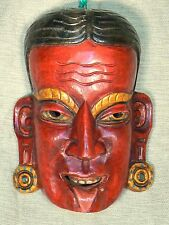 Nepal - Red wood mask / máscara roja de madera / rote Holzmaske
