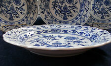 ZWIEBELMUSTER BOHEMIA-MEISSEN STYLE BLUE ONION-LARGE BOWL/PLATE-MINT! EXCELLENT!