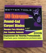 Better Tools Round Carpet Blades, 100 Per Pack