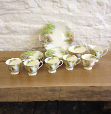 Vintage 1950's Royal Albert The Old Mill 20 Piece Tea Set - one teacup missing