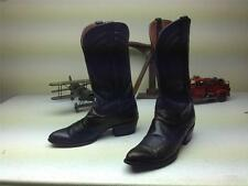 BLACK DISTRESSED VINTAGE LUCCHESE WESTERN COWBOY BOOTS SZ 10 D