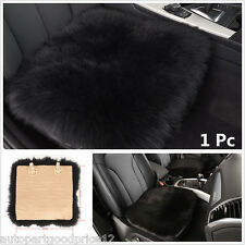 1pc Genuine Sheepskin Long Wool Auto Car Seat Mat Breathable Warm Soft Cover Pad