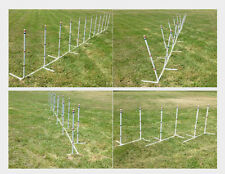 4-in-1 Dog Agility Weave Poles Straight Weave-o-Matic Channel or 2x2, 12 Poles!
