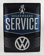 Superb Large Embossed Volkswagen Service Tin Plate Wall Sign VW 40cm x 30cm NEW