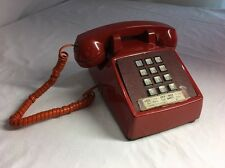 Red Phone Vintage Bell System Western-Electric Push Button Telephone 2500DM