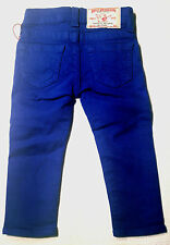 NEW - NWT - RRP$169- Girls Stunning True Religion 'GIRLS CASEY' Royal Blue Jeans