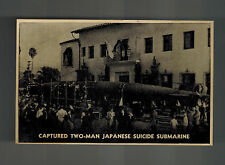 Mint WW 2 Japan RPPC Postcard Captured Mini Submarine Pearl harbor Attack