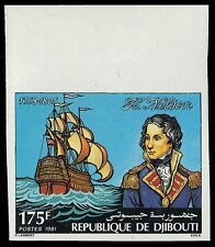 "DJIBOUTI 532P (Mi307P) - Lord Nelson and ""H.M.S. Victory"" Imperf (pf39531) NH"