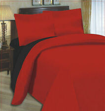 LAURA SECRET 4 PCS COMPLETE REVERSIBLE DUVET COVER & SHEET BED SET IN 10 COLORS