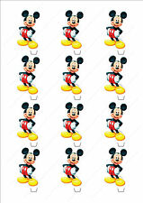 Novelty Mickey Mouse Standing Stand Up Fairy Cake Cupcake Toppers Edible Disney