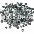1000 x Acrylic Crystal Diamontes Flat Back Rhinestone Diamante Gems 2mm - 6mm