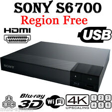 2016 Sony S6700 Region Free DVD & BD ZONE ABC Blu-Ray Disc Player- 4K- 3D- WIFI