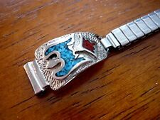 vintage womens southwestern style cuff tips expansion watch band 10mm ends