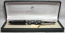 Monteverde Invincia Black Tie Fountain Pen Medium Nib New In Box Product MV41152