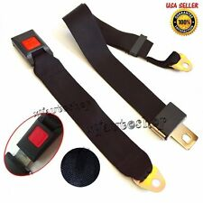 Black Universal 2 Point Retractable AUTO Car Seat Lap Belts Adjustable Safety