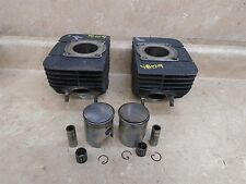 Yamaha 250 RD TWIN RD250 Used Engine Cylinder Pair Set 54 mm 1974 YB129