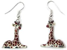 JE018 - Giraffe Earrings - Surgical Steel Porcelain Dangle - little Critterz