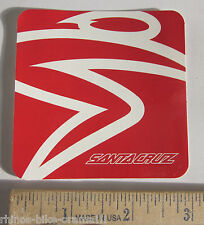 "3"" SANTA CRUZ RED MTB Ride Road Rack Mountain Bicycle BIKE FRAME STICKER DECAL"