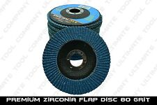"10pc Premium Zirconia Flap Disc 4-1/2"" x7/8"" 80 Grit Grinding Wheel Metal Steel"