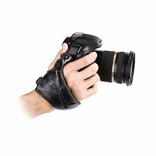 MQ-GS1 Leather Hand Grip Wrist Strap for Universal DSLR Cameras Canon EOS Nikon