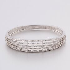 Band gift woman Swarovski crystal attractive 18K white gold filled nice bracelet