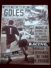 RACING CLUB  vs  NACIONAL 1967 Libertadores Cup - Goles magazine Argentina