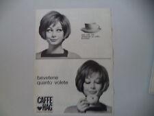 advertising Pubblicità 1967 CAFFE' HAG