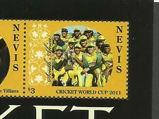 NEVIS 2011 CRICKET WORLD CUP South Africa Team Sheet with ERROR Value MNH
