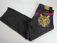 MENS Authentic Coogi  JEANS Gold Tiger Embroidery  42 x 33 Dark  EUC HIP HOP