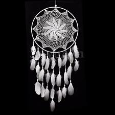 40cm Large Handmade Dream Catcher w/ White Feathers Wall Hanging Ornament Decor