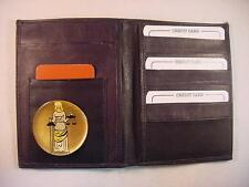 SCALES LADY of JUSTICE LOGO BLACK LEATHER BIFOLD PASSPORT WALLET CARD HOLDER
