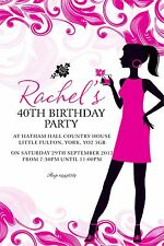 Personalised Birthday Invitations Adult 18th, 21st, 30th, 40th, 50th x 5