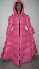 Shiny Glossy Nylon Wetlook Winter Dress Down Coat