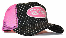 De van Dutch Mesh trucker base Cap [Flannel Black/pink] Carreaux Casquette Capuchon snapba