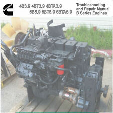Cummins 3.9 5.9 3.9l 5.9l 4 cyl 6 cyl Diesel Engine 1991 1994 Service Manual  CD