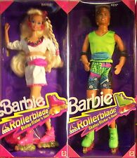 1991 ROLLERBLADE BARBIE & KEN #2215 SKATES ROLL, FLICKER & FLASH  NRFB