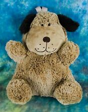 """Pillow Pets Brown Snuggly Puppy Dog 16"""" Stuffed Plush Pillow and Backpack"""