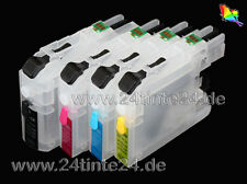 Brother 4 x befüllbare Patrone miniCISS CISS LC125 LC-125 LC 125 DCP MFC 4 Chips