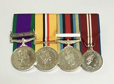 Northern Ireland, Iraq, Afghanistan, Diamond Jubilee, Mounted Full Size Medals