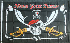NAME YOUR POISON Pirate Flag party/fun/bar/pub/club drinking Kids Room Event 5x3