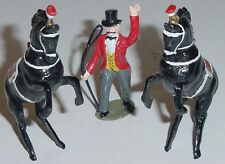 TIMPO TOYS Lead Circus Series, Ringmaster & 2 Charbens Horses, 54mm Reproduction
