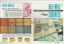 1957 BILT-WELL Retro KITCHEN Cabinets FIESTA CARAFE Franciscan Oasis vtg Catalog