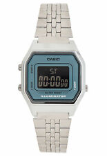 Casio LA680WA-2B Ladies Mid-Size Silver Digital Retro Vintage Watch Black Blue
