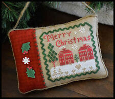 10% Off Little House Needleworks Counted X-stitch chart-Merry Christmas Pillow