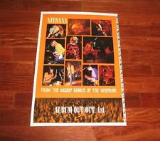 Nirvana FROM THE MUDDY BANKS OF WISHKAH 2 Sided Poster 25x38 Printer's Proof