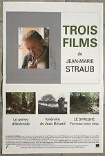 Affiche TROIS FILMS DE JEAN-MARIE STRAUB Genou d'Artémide Le Streghe.. 40x60cm *