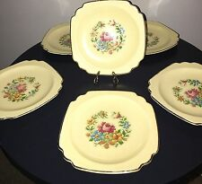 6  Homer Laughlin China Dinnerware Century shape Cross Stitch Bread Plates